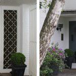 links: vor der Maßnahme | UNILUX Holzfenster | Blend/Flügelrahmen: 72 mm Bautiefe | Glas: 3-fach-Wärmeschutz-Glas, Ug-Wert 0,6 W/m²K | WIRUS Haustür Thermo Top, 84 mm Bautiefe, thermisch getrenntes Aluminium-Profil, Automatik-Schwenkriegelschloss, Bronze-Griffgarnitur | Montage: Wärmebrückenoptimierte RAL-Montage mit Laibungsdämmung