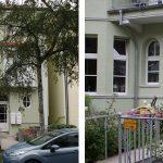 Holzfenster | Blend/Flügelrahmen: 72 mm Bautiefe | Glas: 3-fach-Wärmeschutz-Glas, Ug-Wert 0,7 W/m²K, WK-2 Beschlag | Holz-Haustür mit Oberlicht Edelstahl-Wechselgarnitur