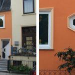 WIRUS Kunststoff-Fenster MD76 | Rahmen: 5-Kammer-System, 76 mm Bautiefe, Uf-Wert 1,2W/m²K | Glas: 3-fach-Wärmeschutz-Glas, Ug-Wert 0,6 W/m²K, WK-2 Beschlag, Spezialglas im Bad. Durch Knopfdruck verwandelt sich das Glas in Milchglas | Montage: RAL-Montage