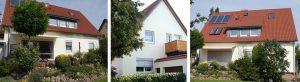 Energetische Sanierung der Gebäudehülle mit Netzwerkpartnern | WIRUS Kunststoff-Fenster Thermo 92 | Blend/Flügelrahmen: 6-Kammer-System, 92 mm Bautiefe, Uf-Wert 1,0W/m²K | Glas: 3-fach-Solar-Energy-Glas, Ug-Wert 0,6 W/m²K, g-Wert 62%, WK-2 Beschlag | Raffstore: GROWE Raffstore, Funkmotoren mit Fernbedienung | Insektenschutz: GROWE Insektenschutz-Spannrahmen und Schiebetüren | Montage: Wärmebrückenoptimierte RAL-Montage mit Laibungsdämmung