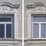 links: vor der Maßnahme | UNILUX Holz-Alu-Fenster | Glas: Wärmeschutz-Glas, Ug-Wert 0,6 W/m²K