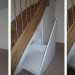 DOLLE Geschosstreppe mit Edelstahl/ Glasgeländer Unterhalb der Kellertreppe ist der Raum gut genutzt: Einbauschrank