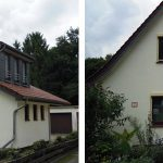 UNILUX Holzfenster | Blend/Flügelrahmen: 72 mm Bautiefe | Glas: 3-fach-Wärmeschutz-Glas, Ug-Wert 0,6 W/m²K, WK-2 Beschlag | UNILUX Holzhaustür | ROMA Rolladen mit E-Antrieb